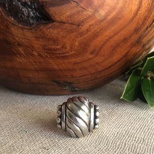 Vintage Sterling Silver 925 Swirl Dome Ring